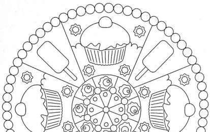 Mandala da colorare per bambini scuola infanzia ew15 for Disegni facili da riprodurre