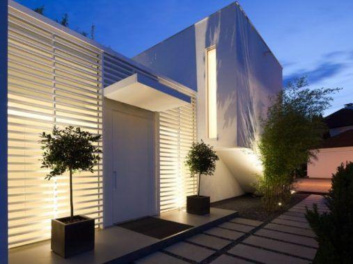 Iluminacion Fachada De Casas Fachada De Casa Fachadas De Casas Modernas Planos De Casas Modernas