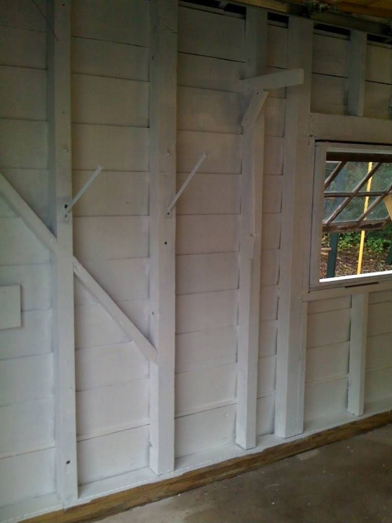 Painting Interior Walls Of Garage With No Drywall Painted Garage Walls Interior Wall Paint Garage Paint