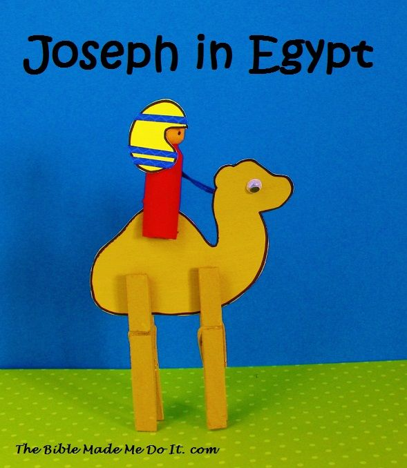 Joseph is a peg doll. He sits on his camel! thebiblemademedoit.com ...