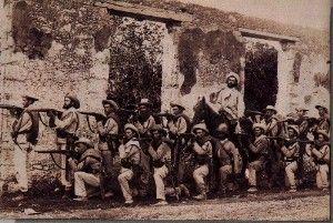 grupo de soldados españoles