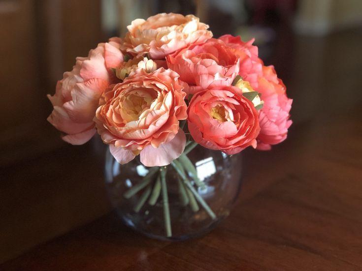 Most Recent Cost Free Ranunculus Vase Style Faux Flower Arrangements Coral Peonies Flower Arrangements