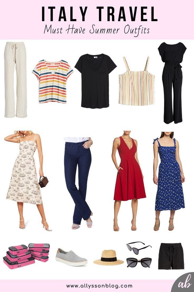 Must Have Outfits to Pack for Italy Travel {Wardrobe Capsule} - #travelwardrobesummer