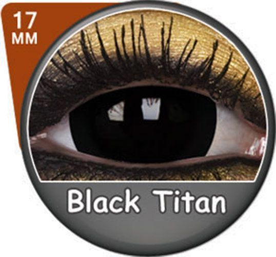 Remis en stock / Back in stock: Lentilles Black Titan noires 17mm Phantasee (annuelles)  Prix: 34.90 #new #nouveau #japanattitude #lenses #lentilles #phantasee #annuelles #1 #an #17mm #cosplay #sf #crazy #fête #soiree #couleur #unie #opaque #vampire #loupgarou #demon #noir #black #titan #noires #mm #annuelles
