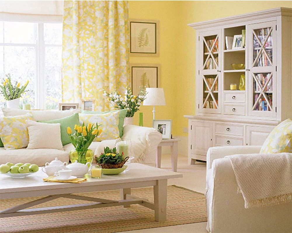Yellow Decor For Living Room Curtain Colours For Yellow Wall New Blog Wallpapers House