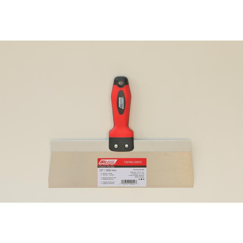 Wal Board Tools 12 In Stainless Steel Blade Taping Knife 20 042 Steel Stainless Steel Spring Steel