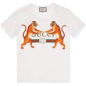 0b2e897d25a37 Gucci Gucci Logo With Tigers T-Shirt Printer