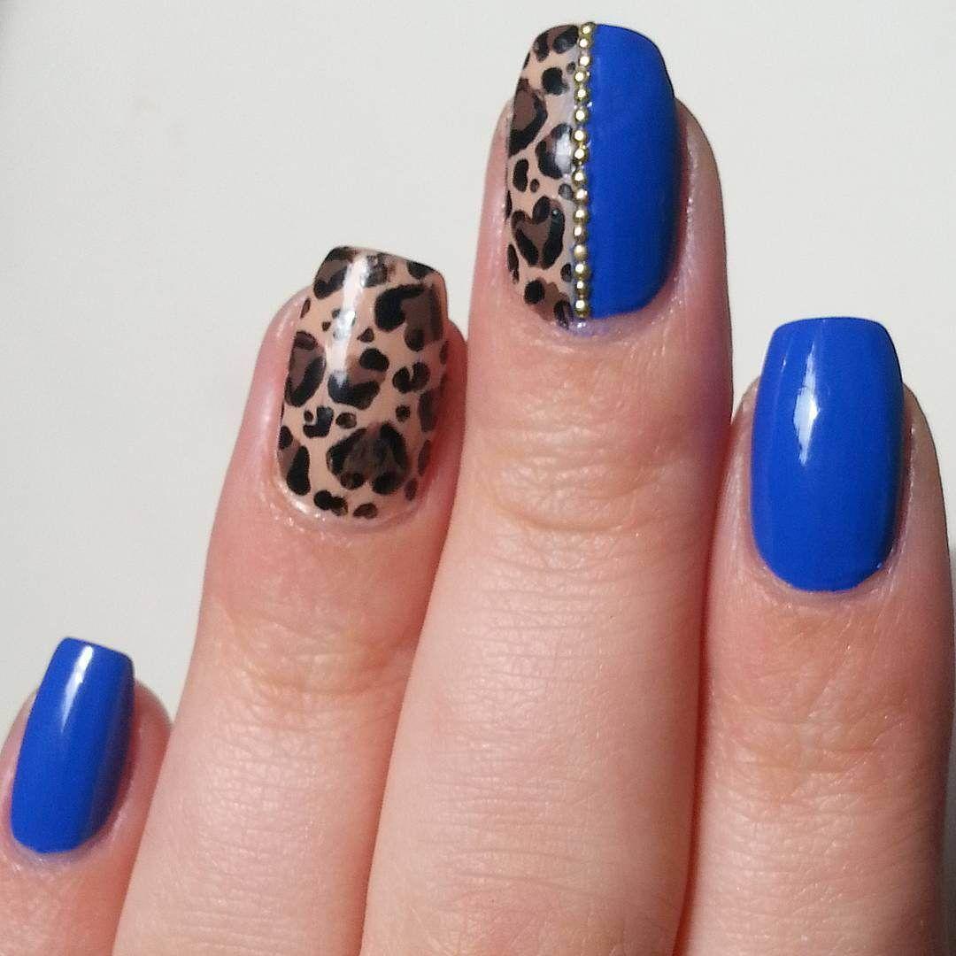 2017 Royal Blue Nail Art Designs | Royal blue nails and Blue nails