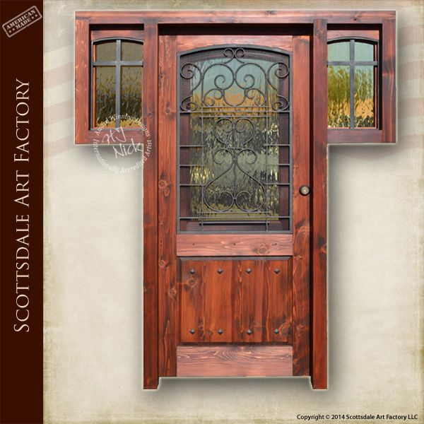 Elegant Custom Door With Half View Windows With Wrought Iron Security Screen And  Custom Iron Work On Designer Exterior Door With Thermal Insulated  Decorative Glass ...
