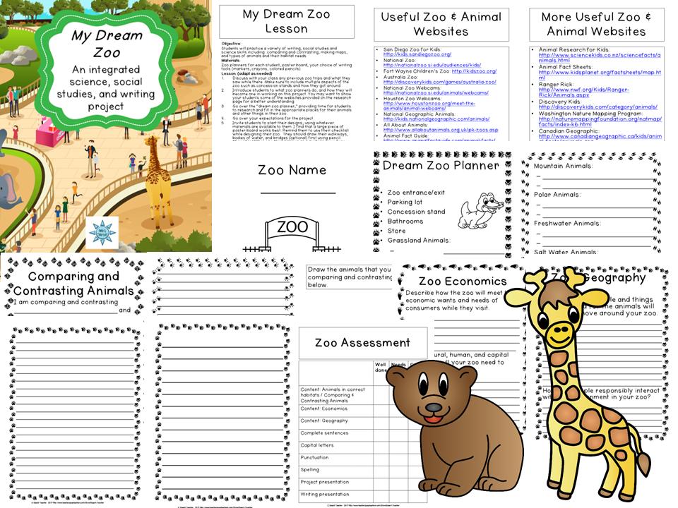 My Dream Zoo Teaching Social Studies Teaching social