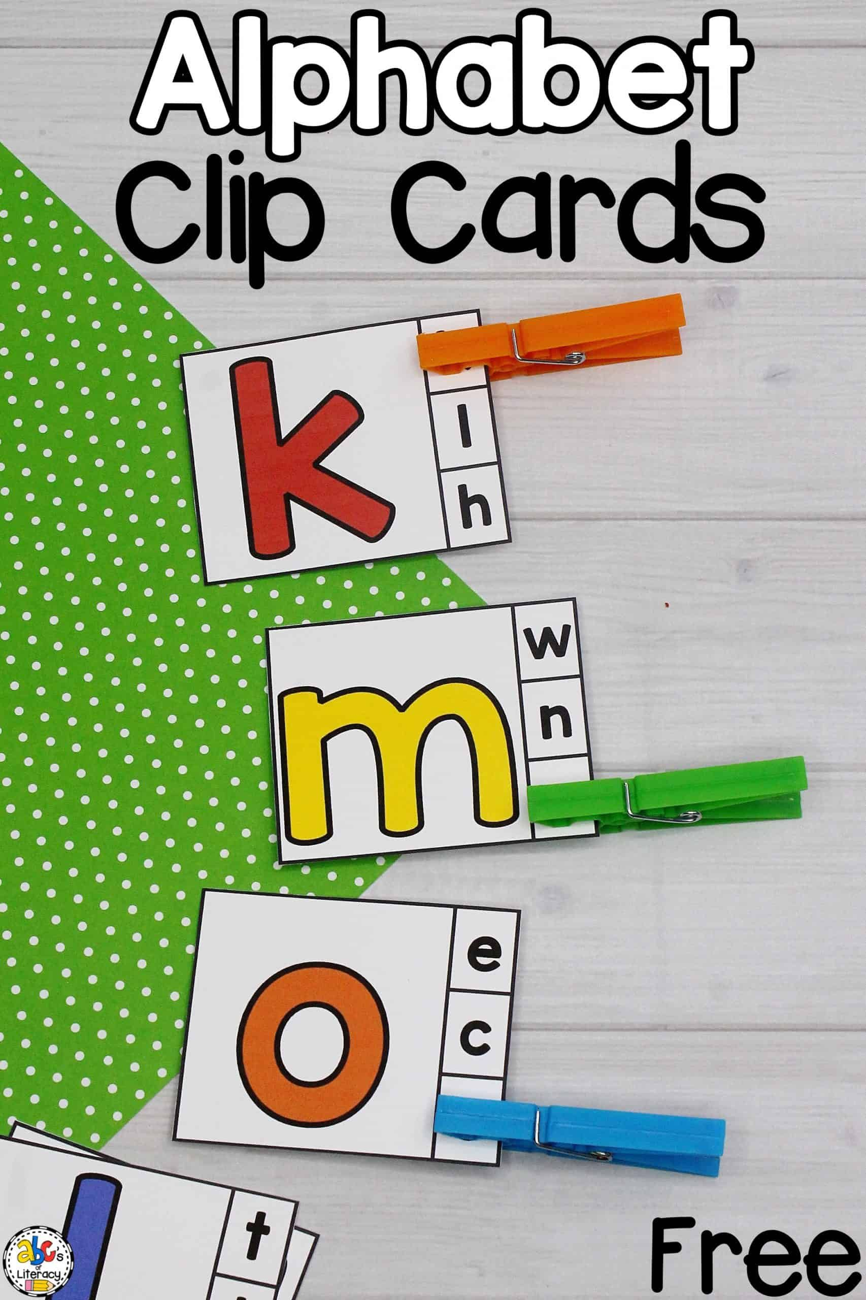 Alphabet Clip Cards In