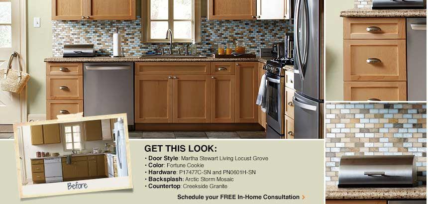 Cabinet refacing idea - Locust Grove One from Martha Stewart ...