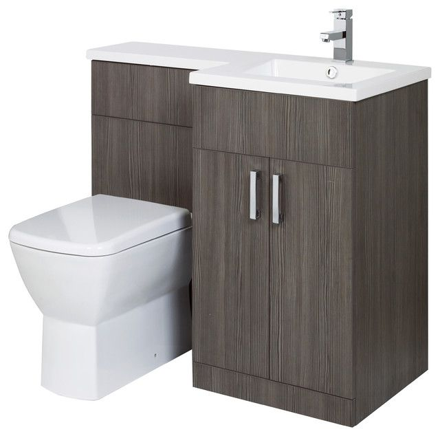 Gorgeous Aquatrend Petite Combined Vanity Unit Pack In Avola Grey