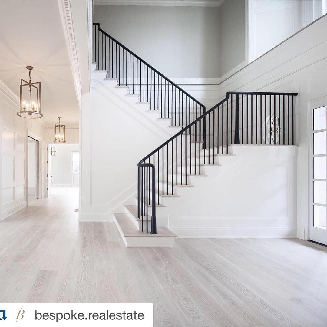 Southampton Stunner This Colour Palette Ticks All The Boxes Repost Bespoke Realestate With Repostapp Custom Built Homes Modern Staircase House Stairs