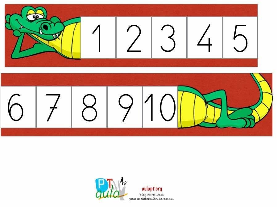 cocodrilo numerico   Escuela - Liceo   Pinterest