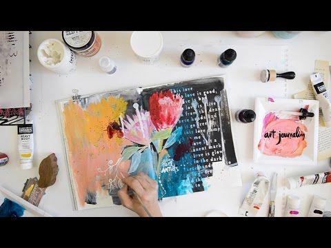 Art Journal #16: Protea Art Journaling