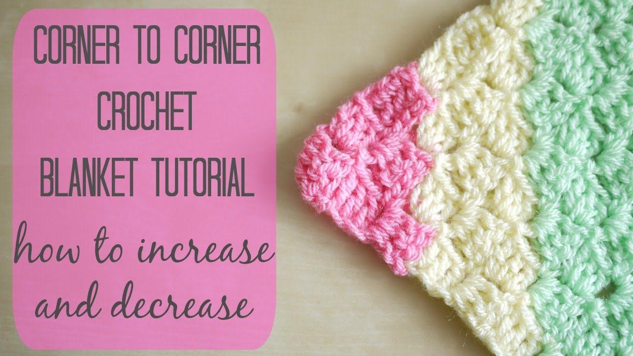 CROCHET: How to crochet the corner to corner 'C2C' blanket | Bella Coco