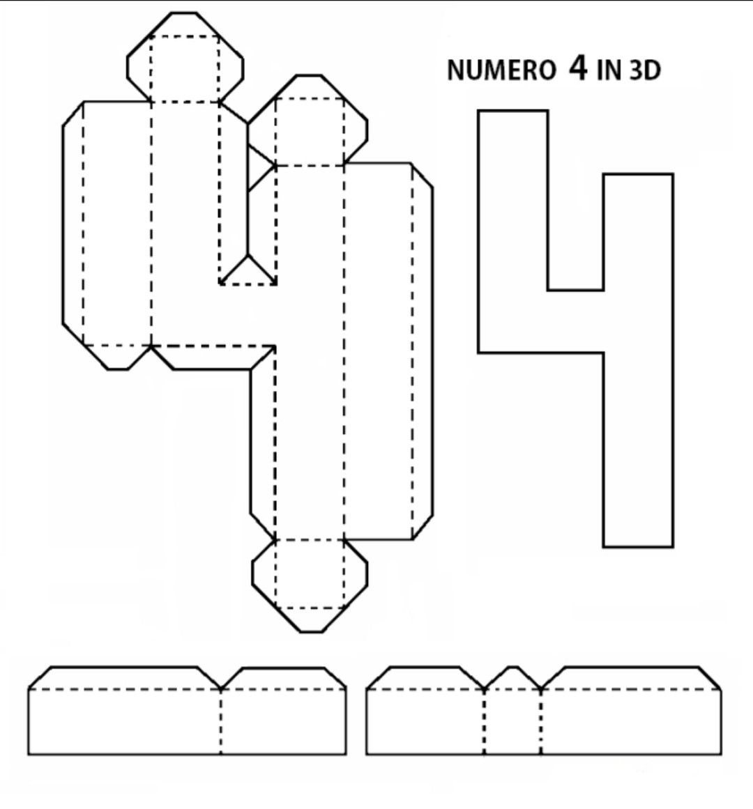 Numeri 3d Fai Da Te Paper Crafts Diy Kids Paper Crafts Diy Tutorials Diy Letters