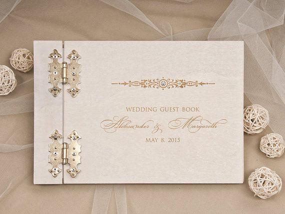 """Gästebuch Hochzeit /""""Guest Book/"""" schwarz//gold Hochzeitsalbum Hochzeitsdeko"""