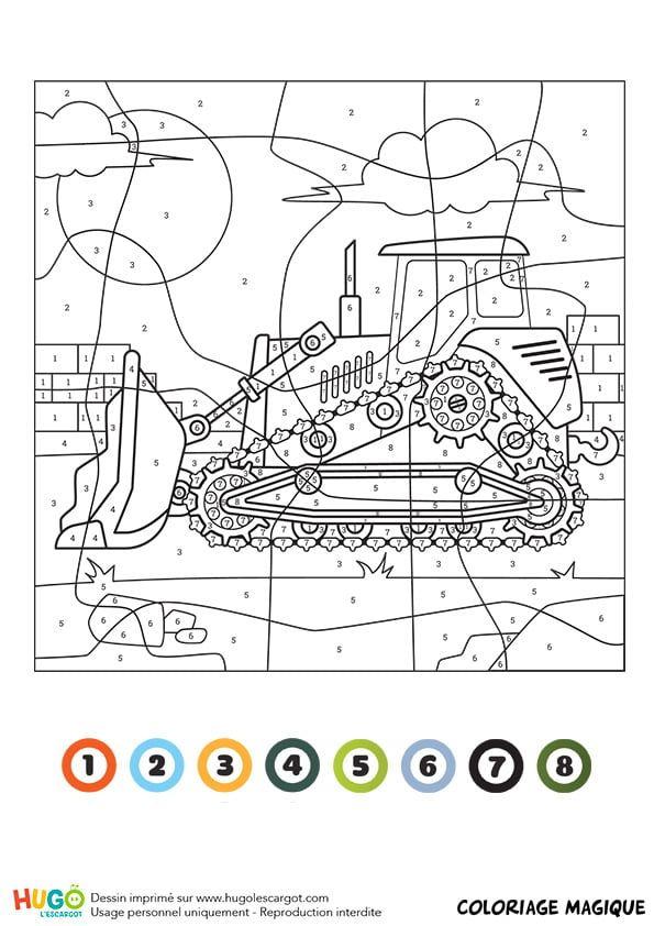 Coloriage Et Illustration D Un Coloriage Magique Ce1 Un