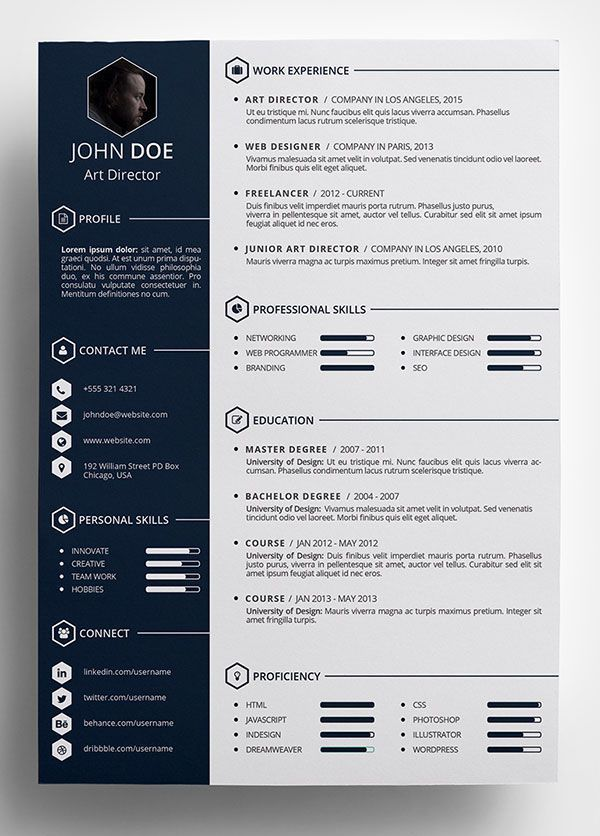 amazing resume templates free creative resume template in ...