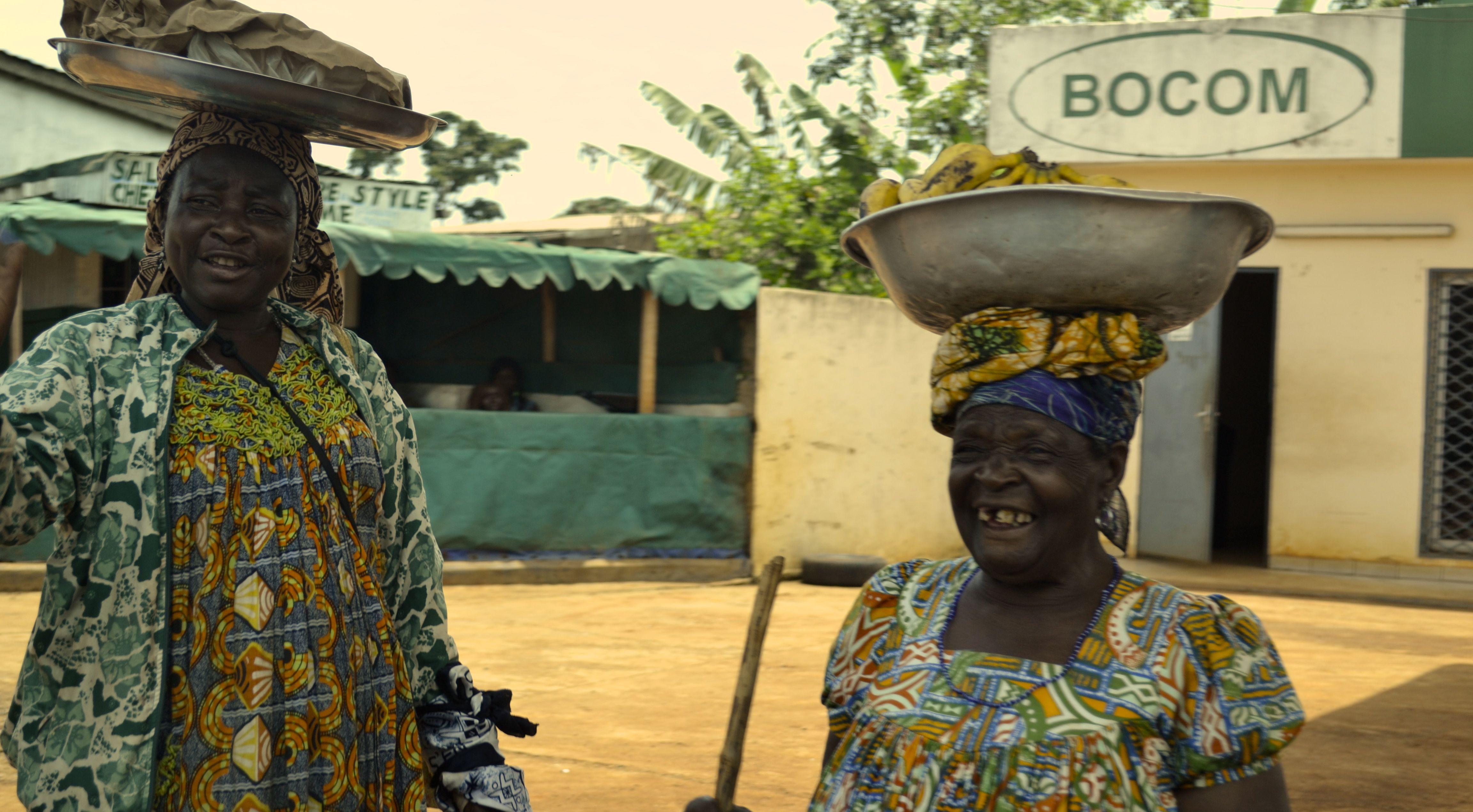 2 women selling bananas in West Cameroon, 2014