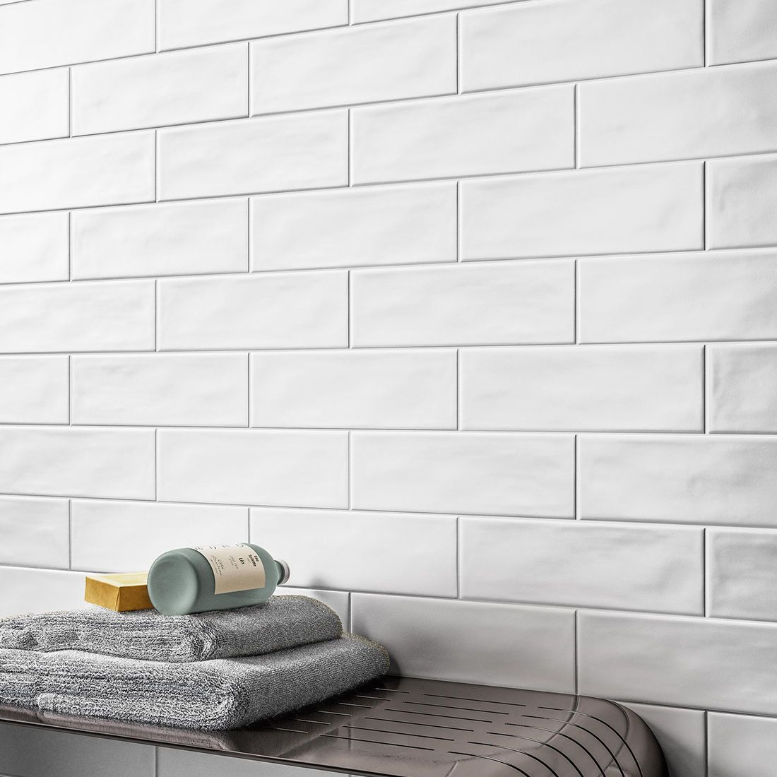 whoosh white matt white subway tile
