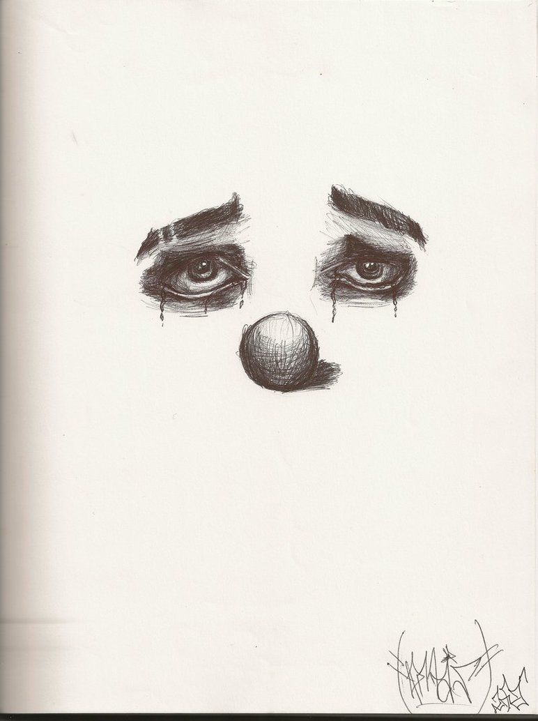 crying clown drawings crying clown by twof4cedjoka on