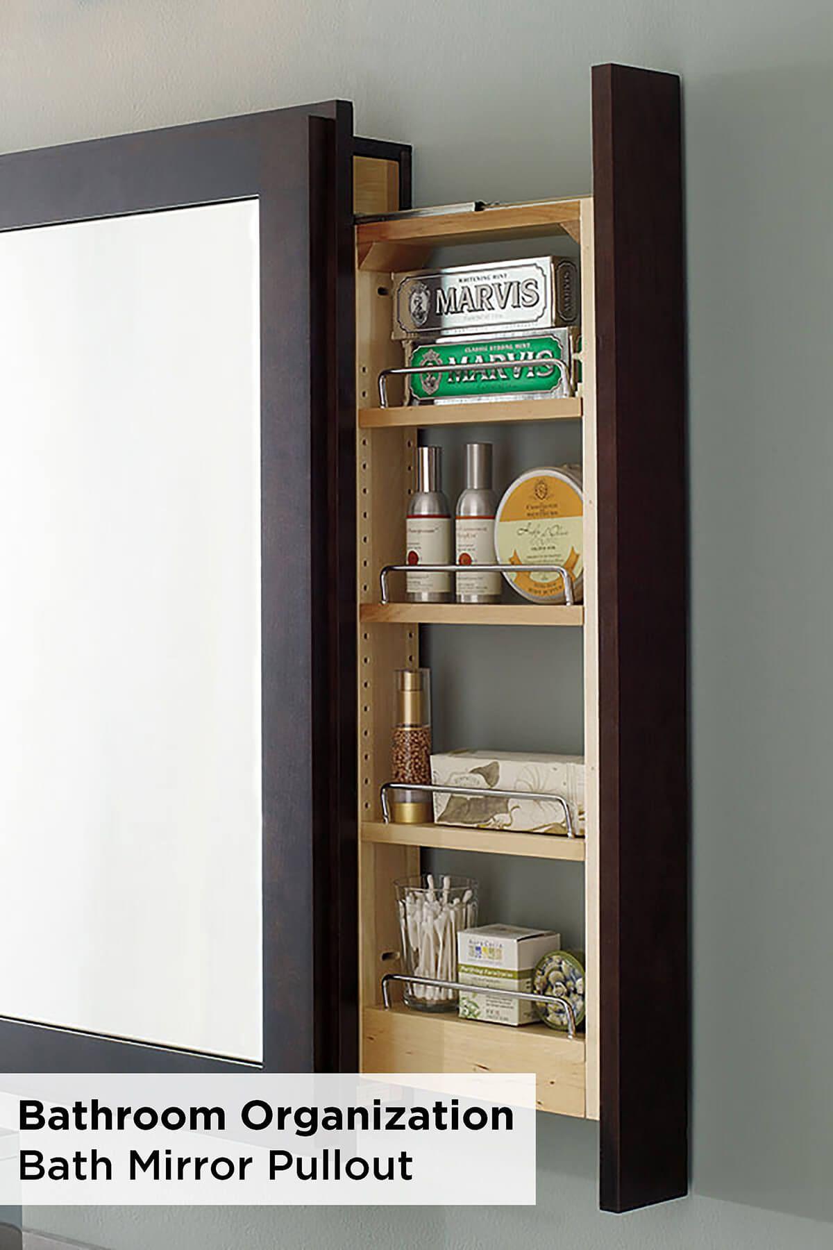 25 Brilliant Built In Bathroom Shelf And Storage Ideas To Keep You Organized With Style Bath Mirror Bathroom Mirror Makeover Bathroom Storage Shelves