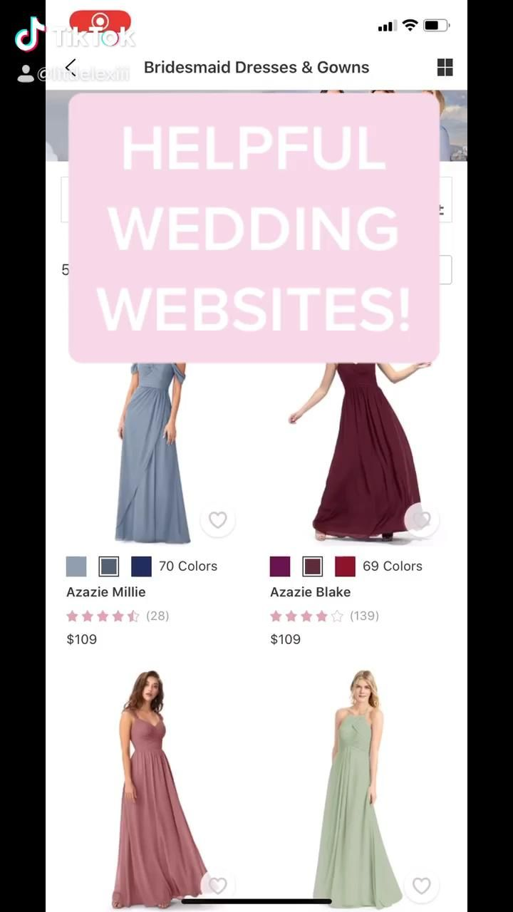 Video Helpful Wedding Websites Di 2020 Pakaian Pengiring Pengantin Gaun Pengiring Pengantin Dekorasi Pernikahan Buatan Sendiri
