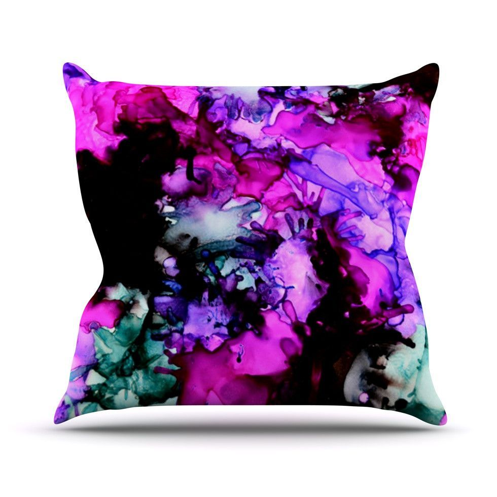 """Claire Day """"Siren"""" Pink Purple Outdoor Throw Pillow   Products ..."""