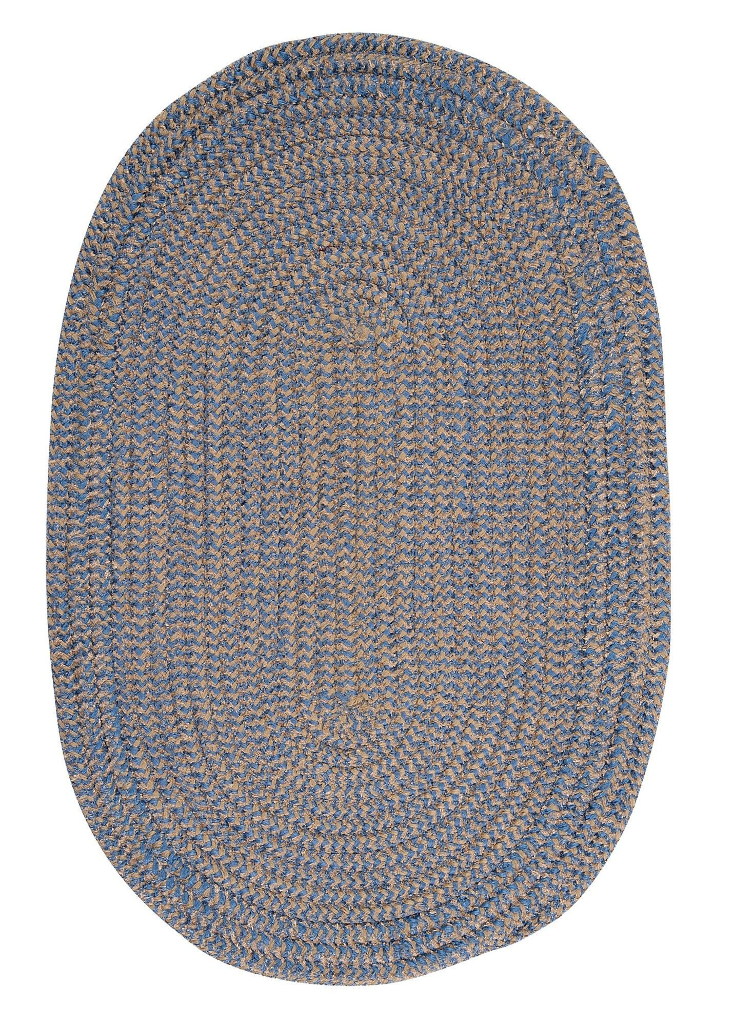 Ridley Blue Ice Check Indoor/Outdoor Area Rug