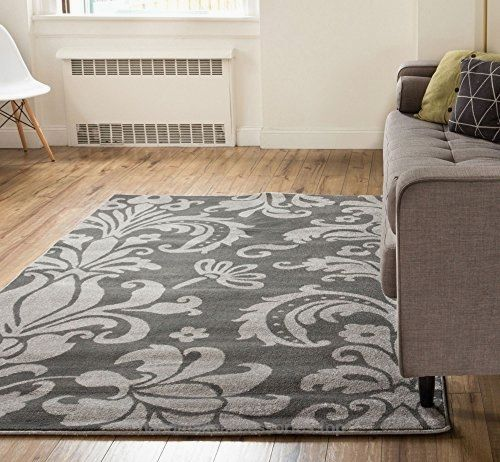 Floral Modern Area Rug X Oriental Classic Soft Pile Contemporary Carpet Thick Plush Stain Fade Resistant Foyer Bedroom Living Dining Room