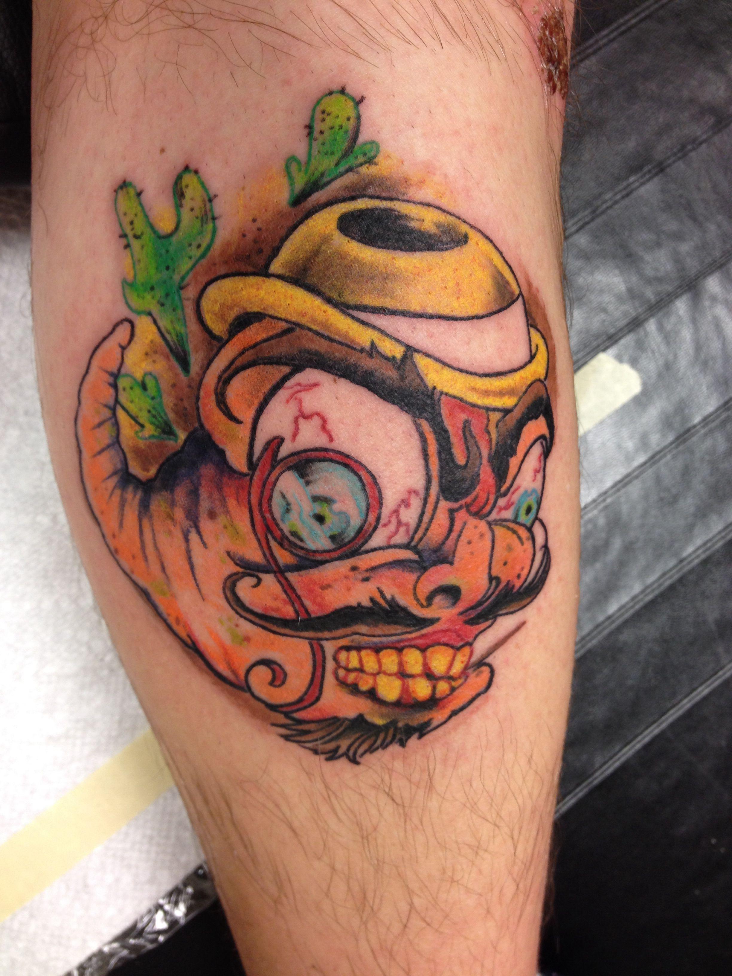 Grimy tequila worm tattoo | Tattoos | Pinterest | Tattoo