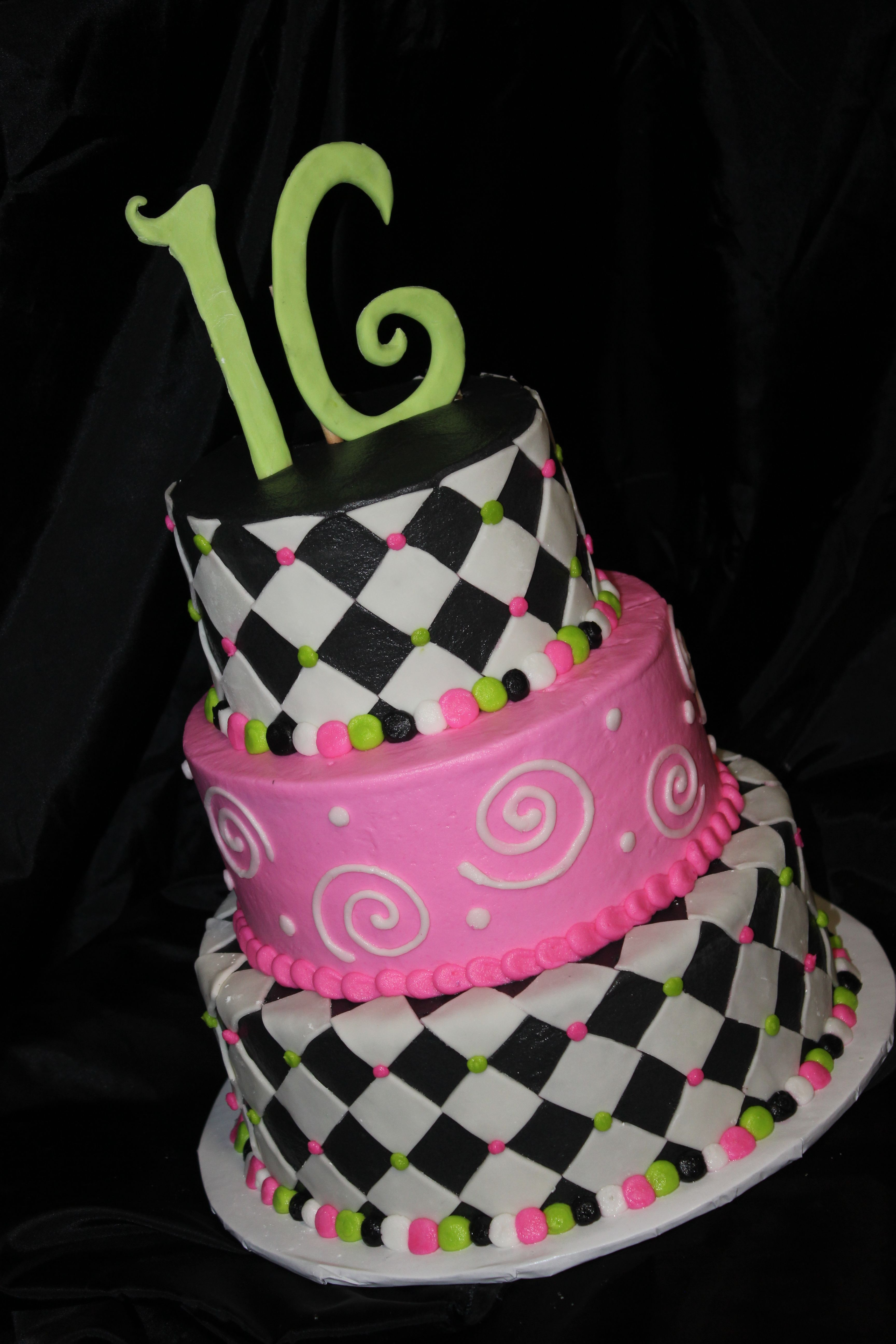 16th Birthday Cake for Girl cakes Pinterest 16th birthday