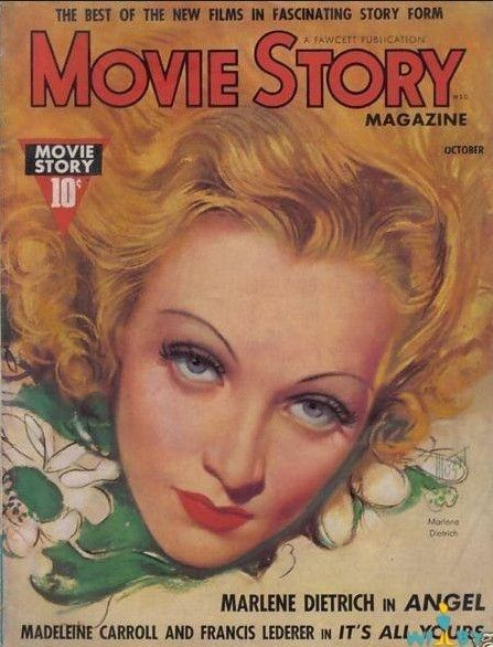 "Marlene Dietrich ~ ""Movie Story"" magazine..."