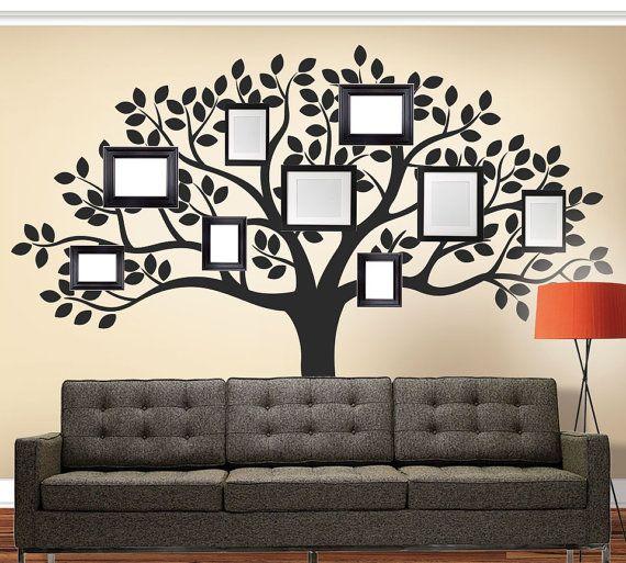 Custom Family Wall Decal   Family Tree   Living Room Vinyl Decal   Family  Tree Decal   Tree Decal   Wall Decal 82 Part 45