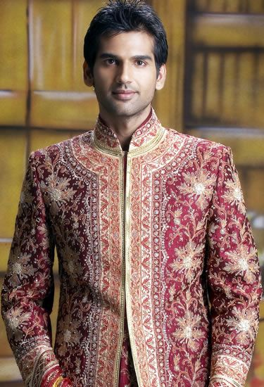 Image result for rouge pink gold brocade sherwani