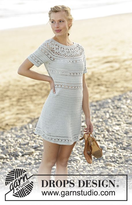 39cc38c98 Grace in Lace dress with round yoke and lace pattern