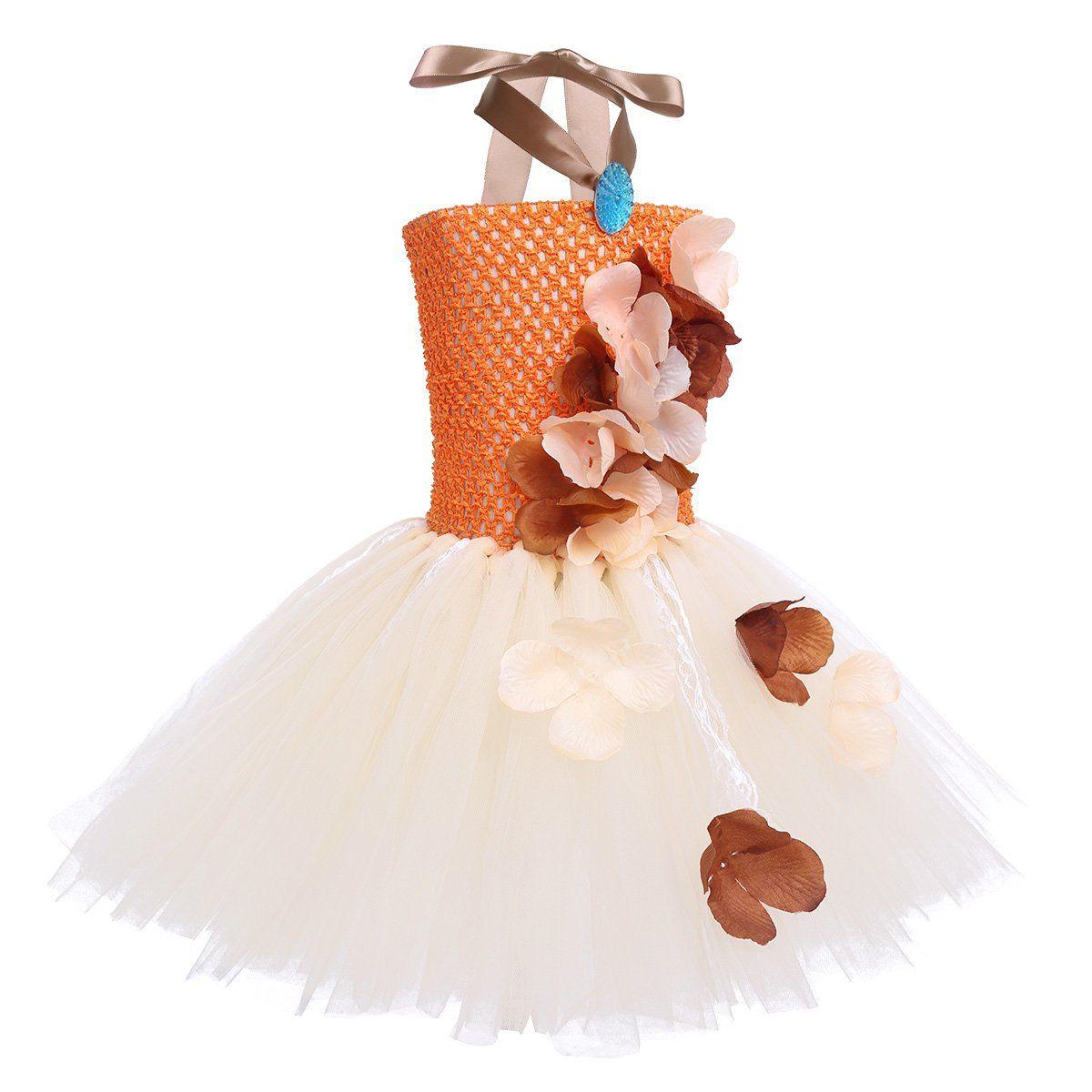 Kid Girls Halter 3D Flower Tutu Dress Princess Outfit Costumes Halloween Party