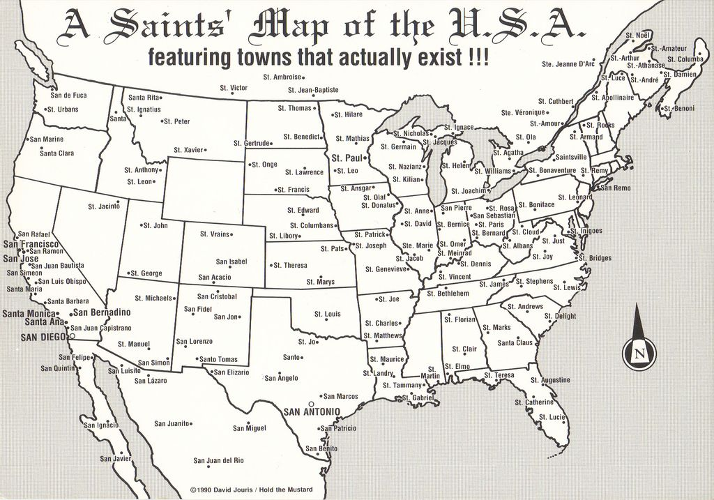 Usa Saint S Map Postcard Moorish Science History Of Islam Usa Map