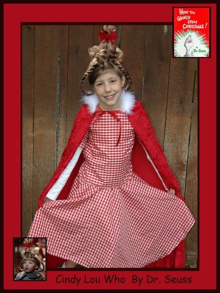 Dr Seuss Cindy Lou Who Grinch Costume Costume Pop Christmas - dr seuss halloween costume ideas