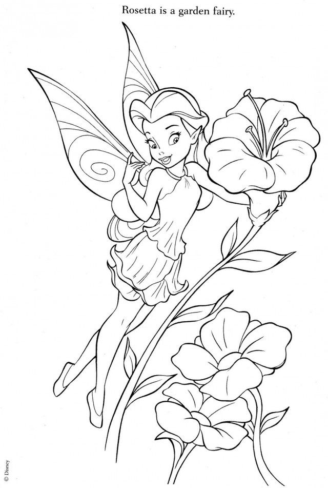 baby tinkerbell coloring pages - photo#50