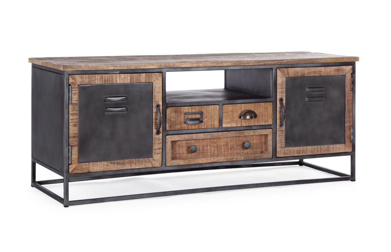 MOBILE PORTA TV 2A-3C RUPERT struttura in legno massello e ...