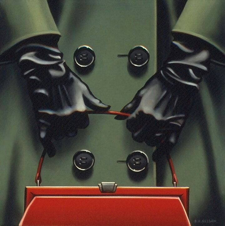 """Painting by Kenton Nelson - """"The Big Red Purse"""""""
