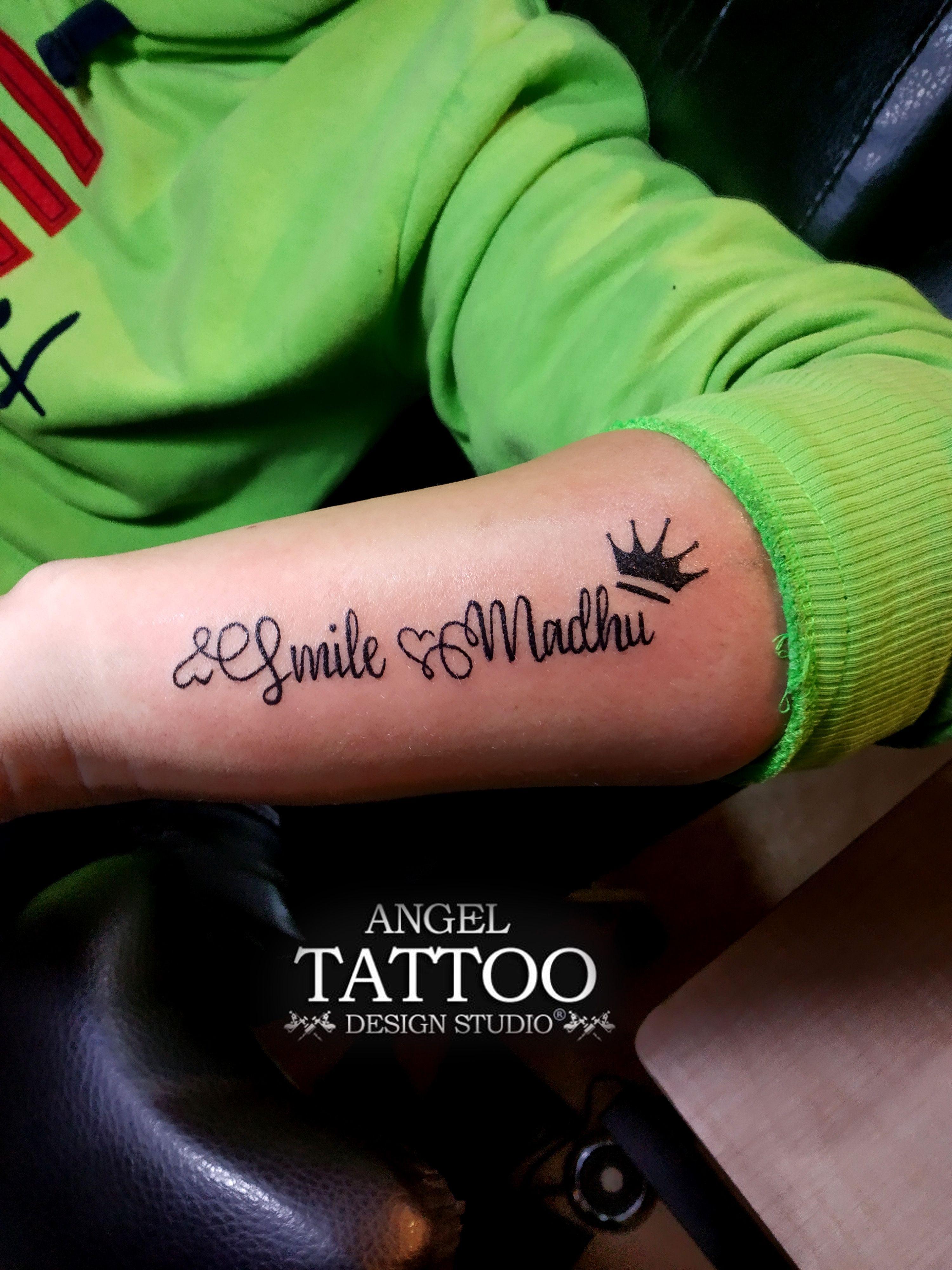664351268 Madhu Name Tattoo made in Gurgaon ; call 8826602967 for appointment  #madhunametattoo #nametattoo