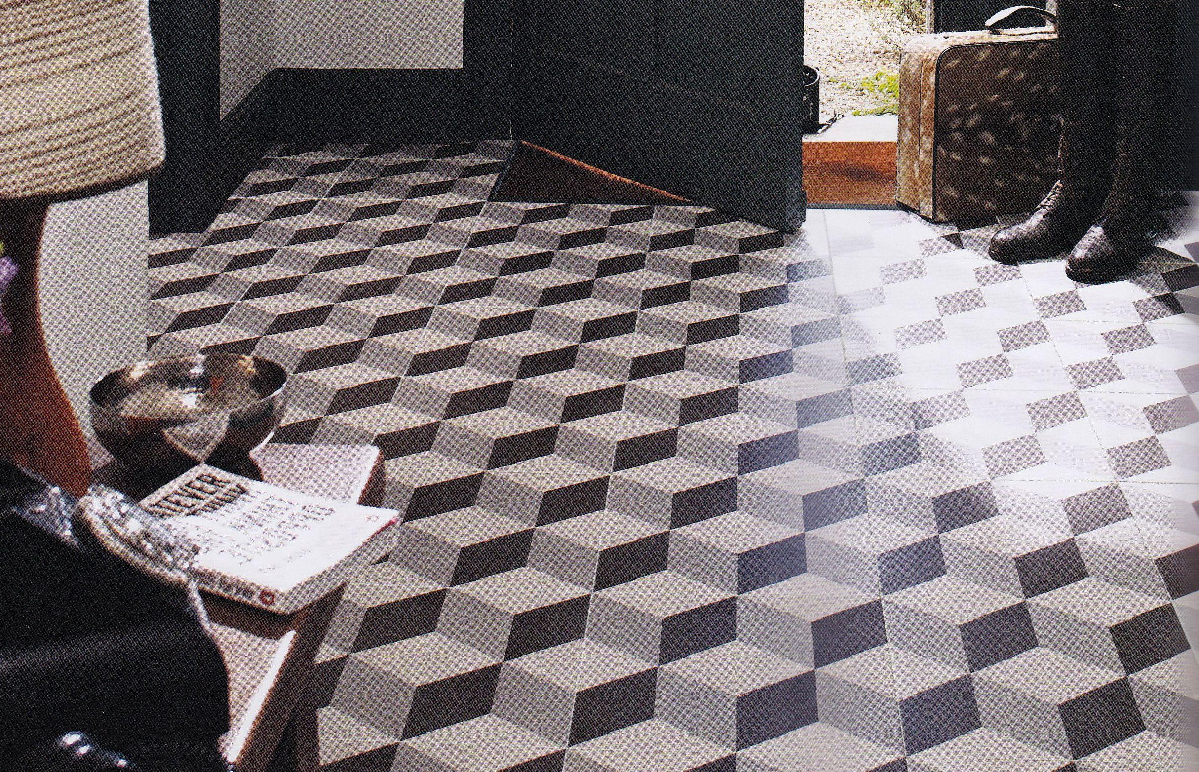 3d cube tile Google Search Geometric floor, Illusions