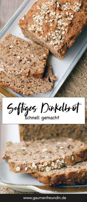 Fast Dinkel Vollkornbrot - super saftig   - Kochen  & Backen -