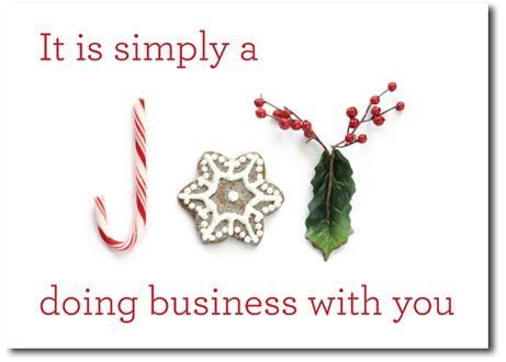 Christmas Cards For Business It Is Simply A Joy Doing With You On The Front