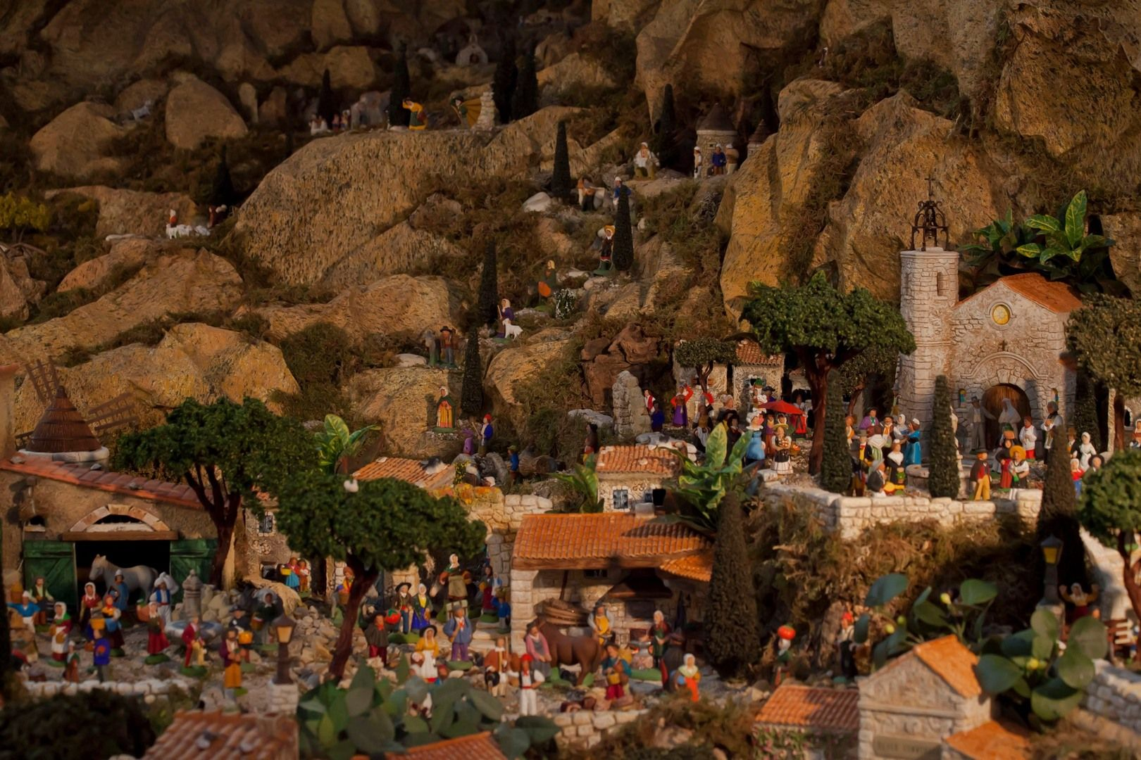 Provençal Nativity Scene at Saint François Xavier Church in Paris // PHOTO BY JACQUES BRAVO /// Merry Christmas to all! ///